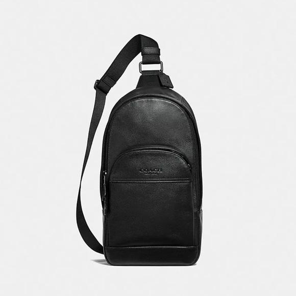 f67f1927449f Coach Charles sling pack bag leather unisex f49312
